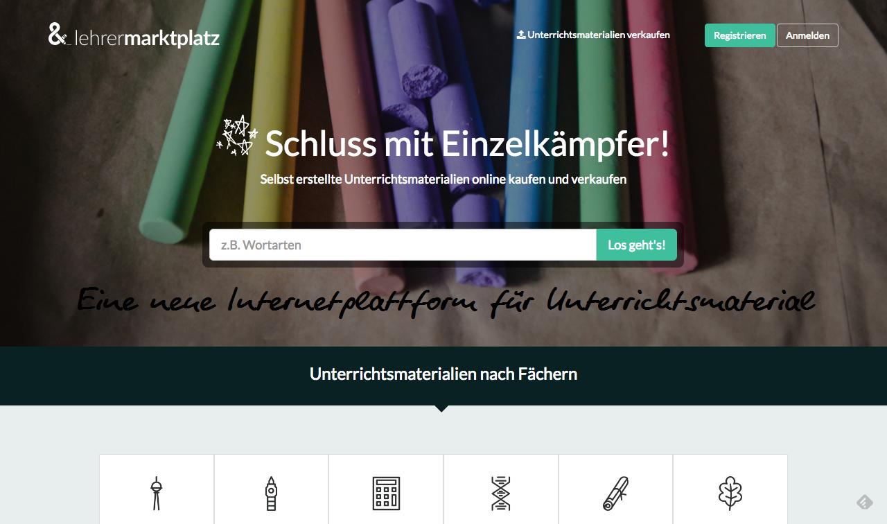 lehrermarktplatz.de, die neue Plattform für Unterrichtsmaterial 1