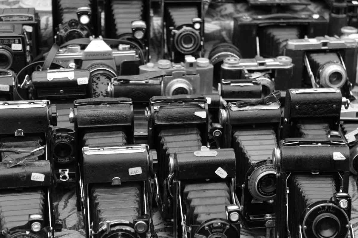 Alte Fotoapparate Portobello Market