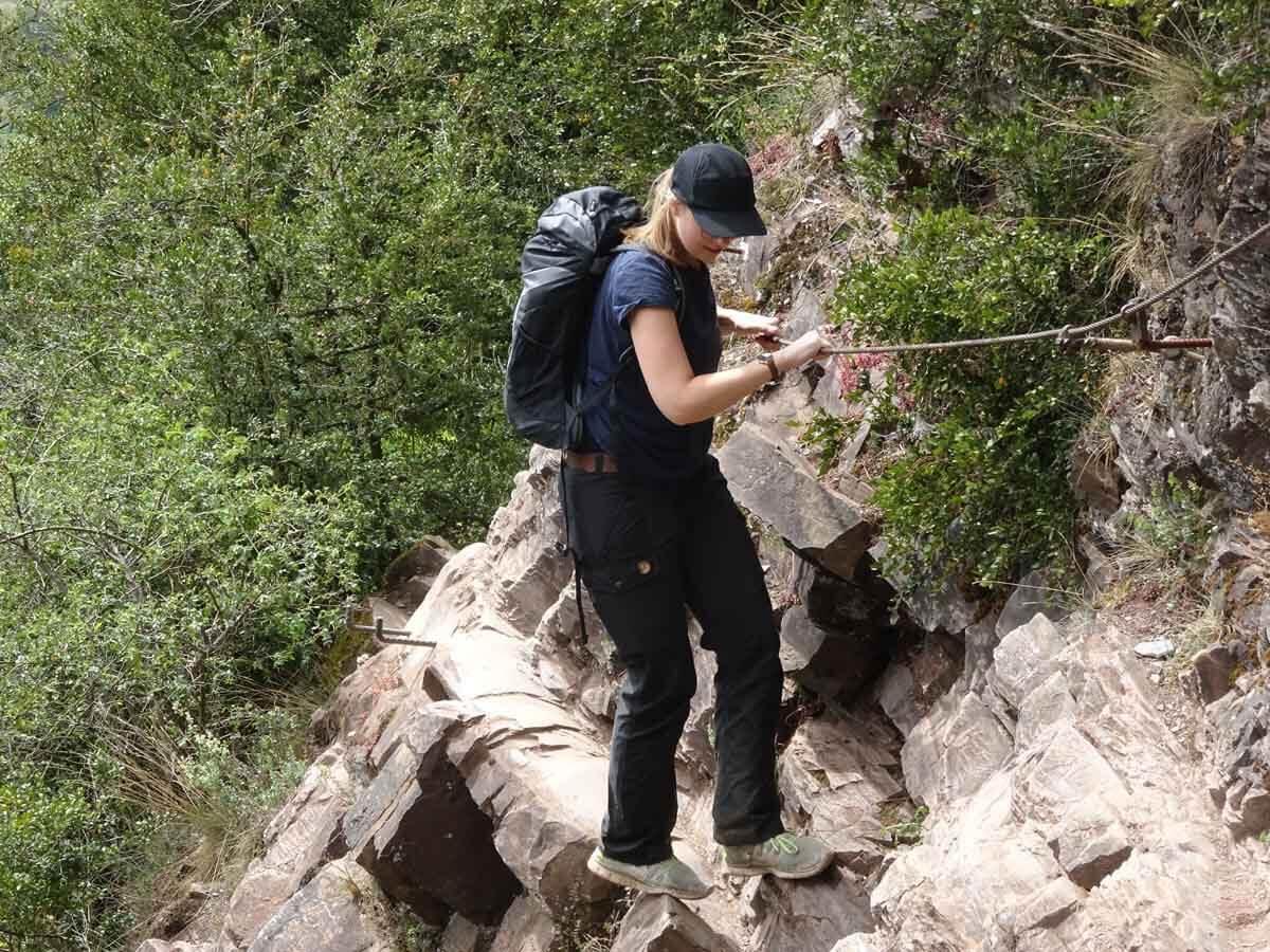 Der Calmont Klettersteig 5
