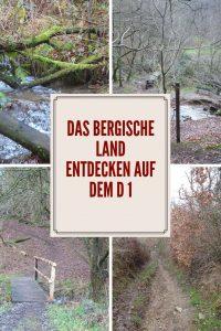 Wandern im Bergischen: Der D 1 Siefen, Wälder und Höhen