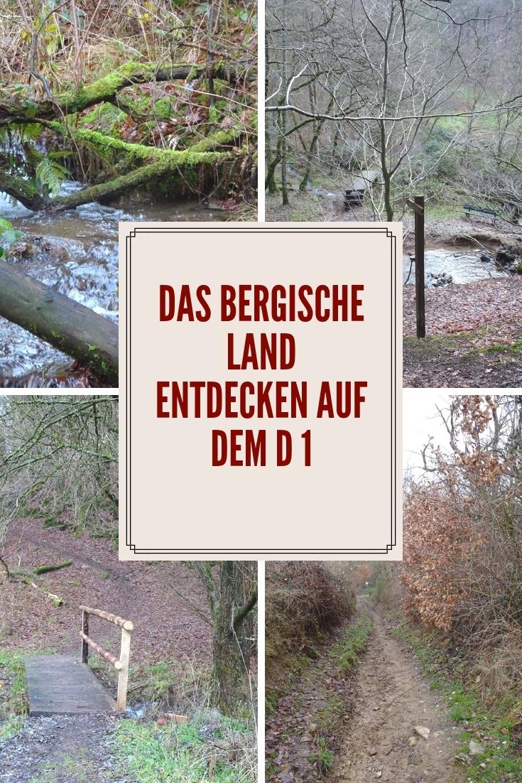 Wandern im Bergischen: Der Wanderweg D 1 Siefen, Wälder und Höhen