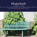 Blogurlaub