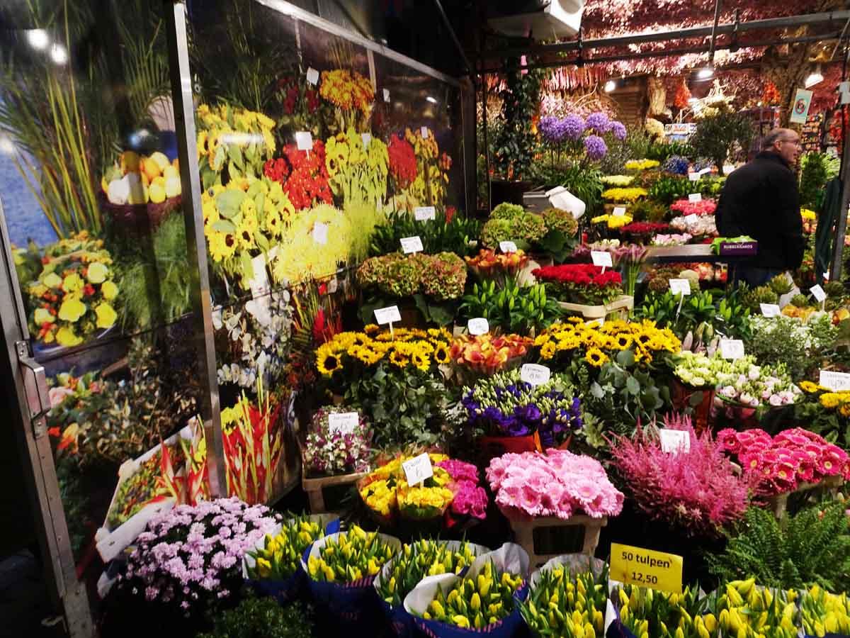 Stand auf dem Blumenmarkt