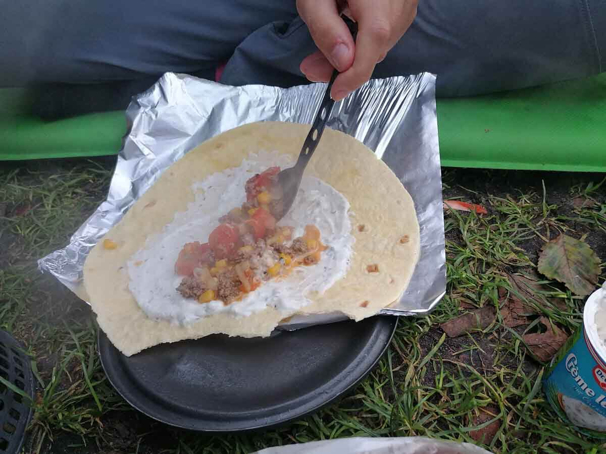 Campingküche Wraps