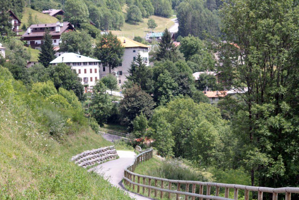 Dolomitenradweg Abfahrt Cortina