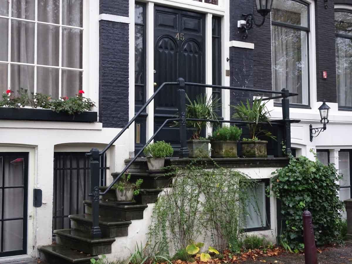Typischer Hauseingang im Grachtenviertel