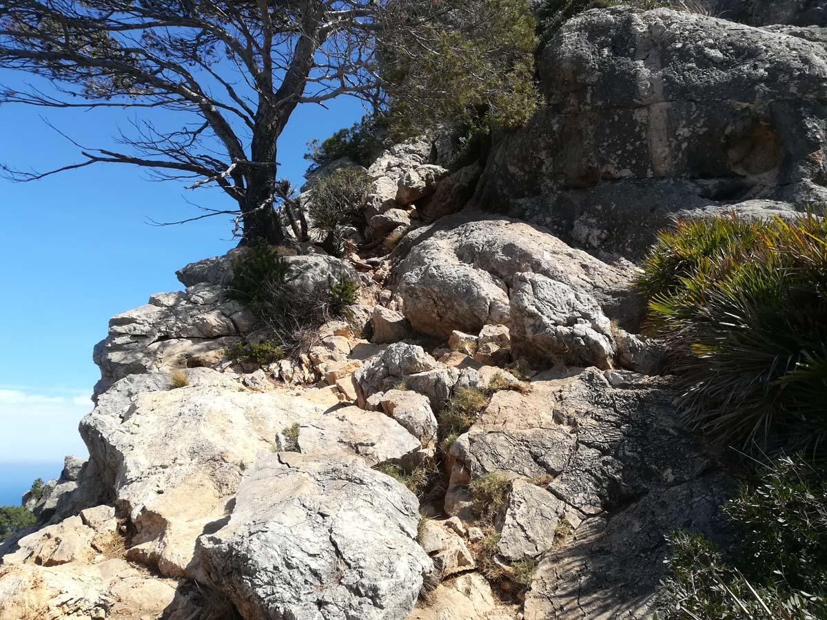 GR 221 Kletterstelle