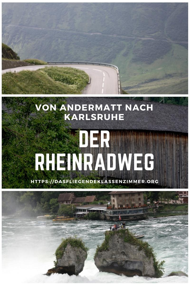 Der Rheinradweg von Andermatt nach Karlruhe