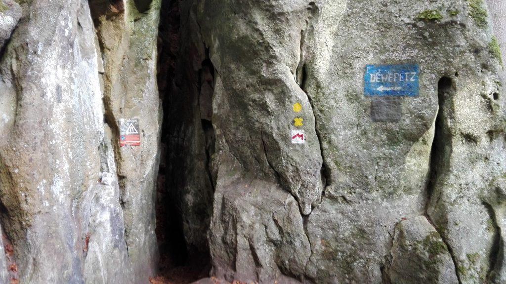 Mullerthal Trail Felsspalte