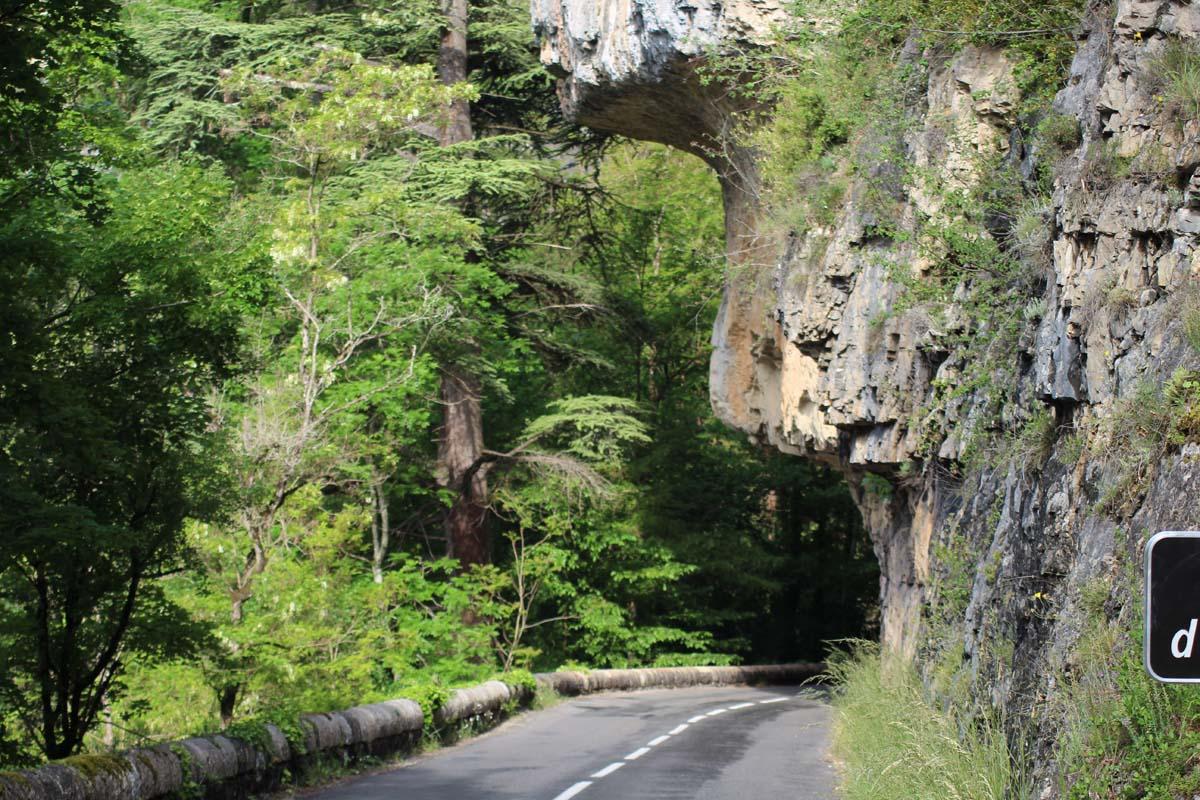 Straße Südfrankreich