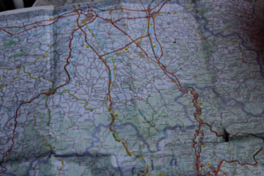 Landkarte Italien unscharf