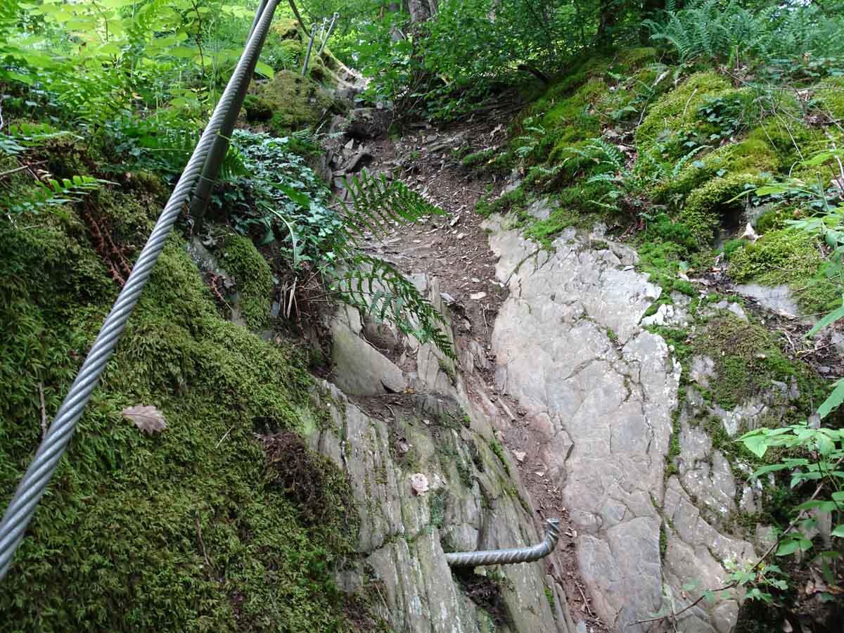 Kletterpassage Traumschleife Layensteig