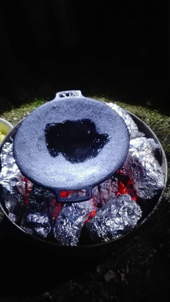 Kochen auf offener Flamme