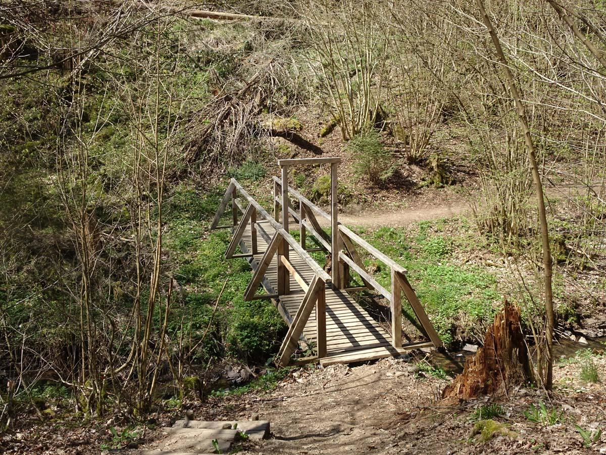Mehrtagestpur auf dem Lieserpfad Brücke
