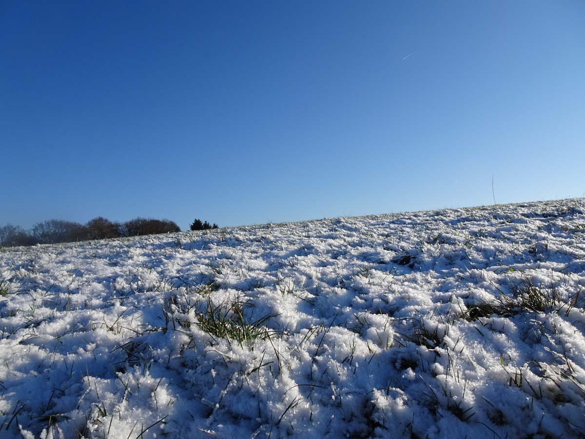 Wandern an der Dhünntalsperre - Der D 4 Naturwelten Schnee