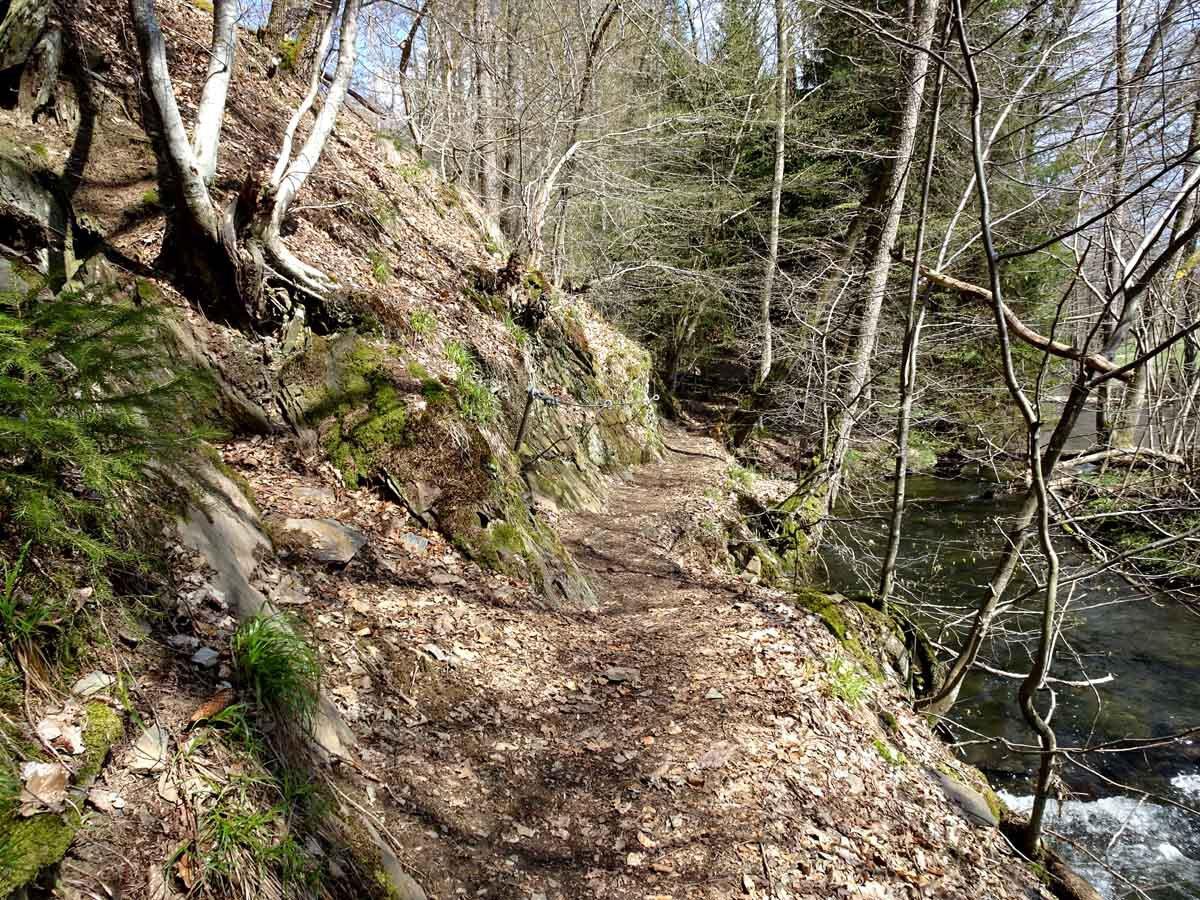 Rundwanderweg Limbach Klamm Pfad durch die Limbach Klamm