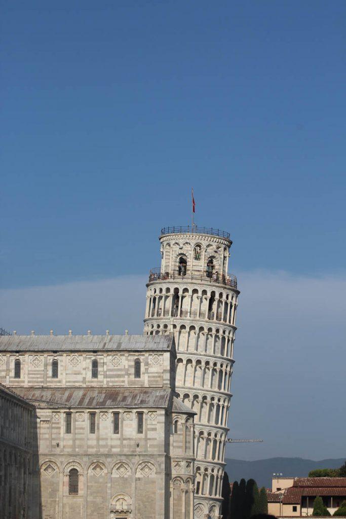 Von Mailand nach Pisa mit dem Rad der Turm von Pisa