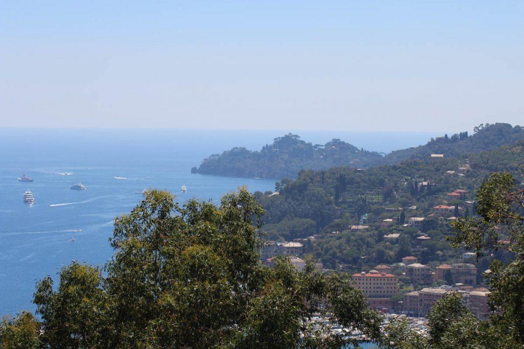 Von Mailand nach Pisa mit dem Rad Blick auf Portofino