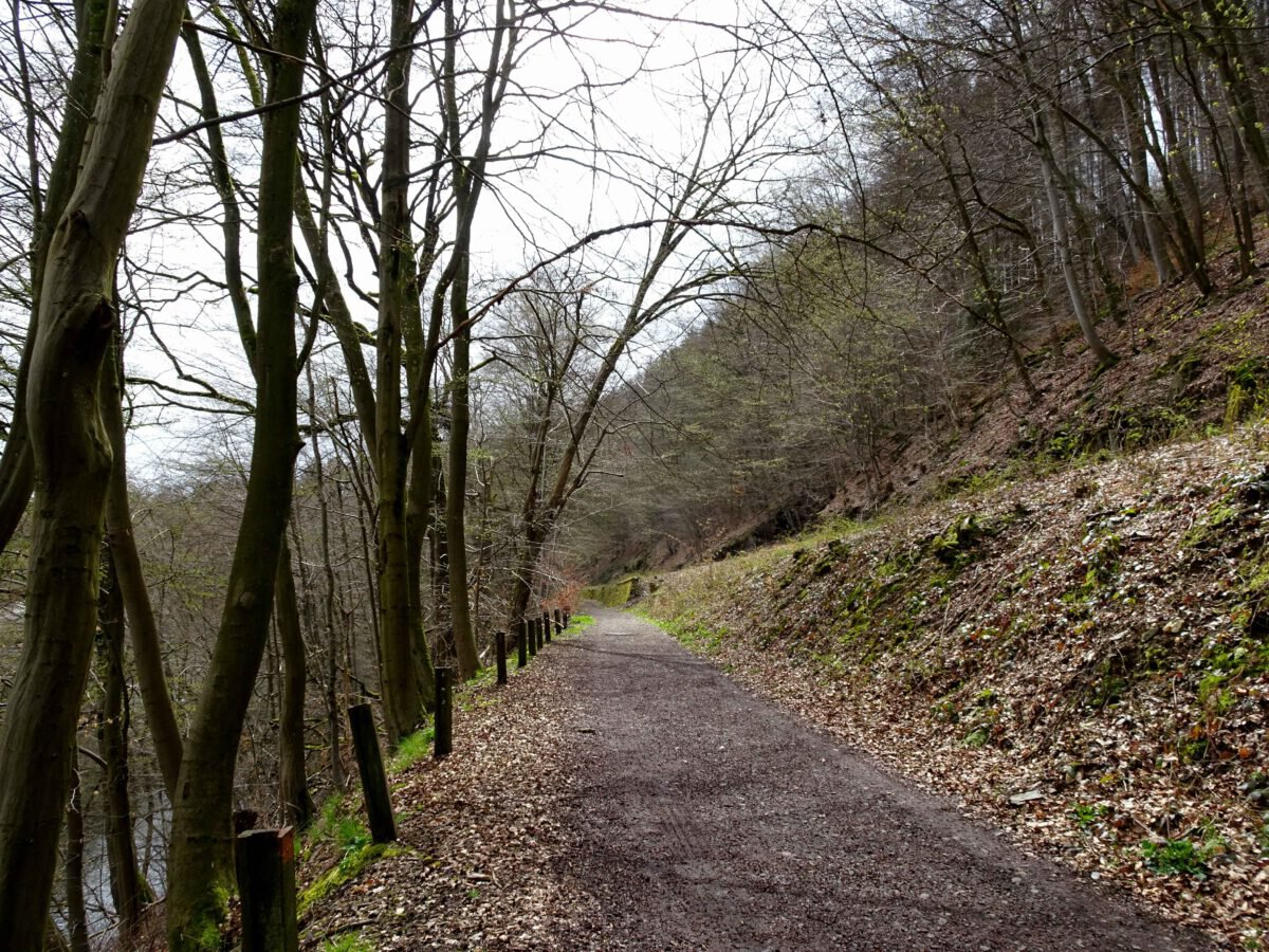 Radweg an stillgelegter Bahnstrecke
