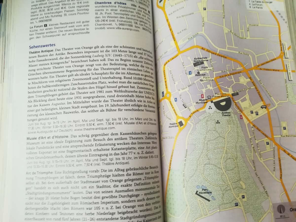 Reiseführer Südfrankreich Plan