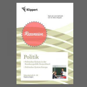 Kopiervorlagen Politik nach Klippert für die Sek.I