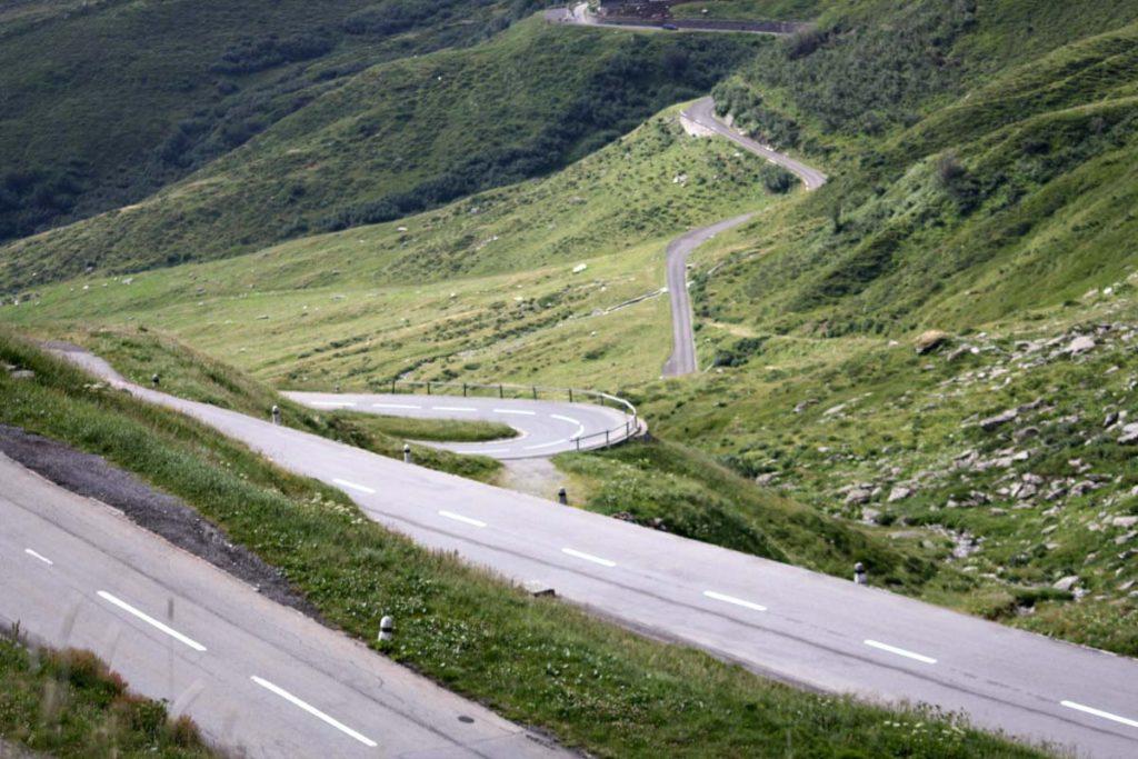 Rheinradweg Abfahrt Oberalppass