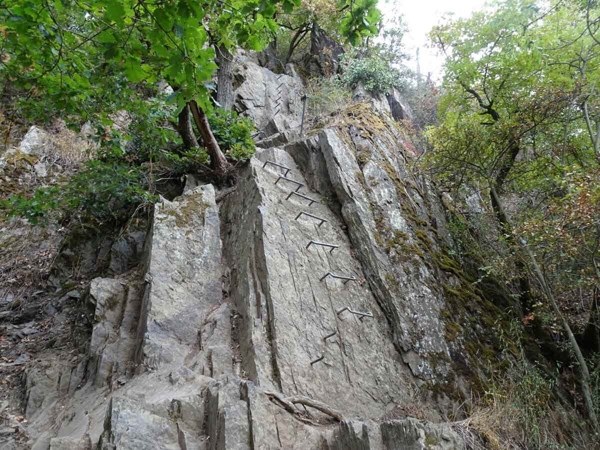 Steilwand am Mittelrhein Klettersteig