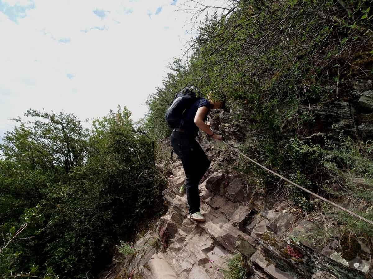 Der Calmont Klettersteig 1