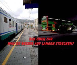 Bahn oder Fernbus? Was ist besser auf langen Strecken?