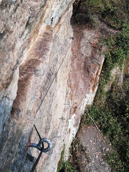 Felswand Mittelrhein Klettersteig