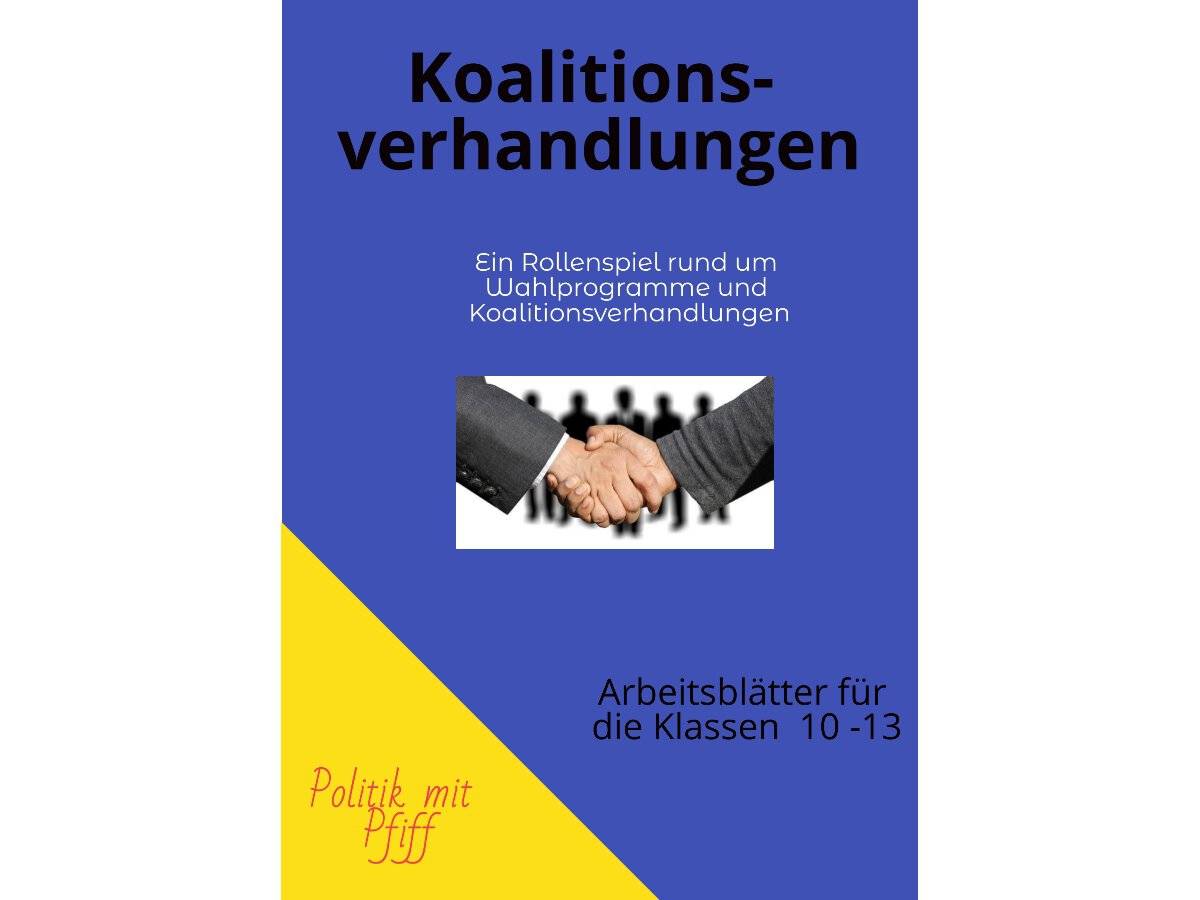 Koalitionsverhandlungen Unterrichtsmaterial