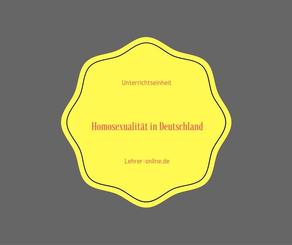 Unterrichtseinheit Homosexualität in Deutschland