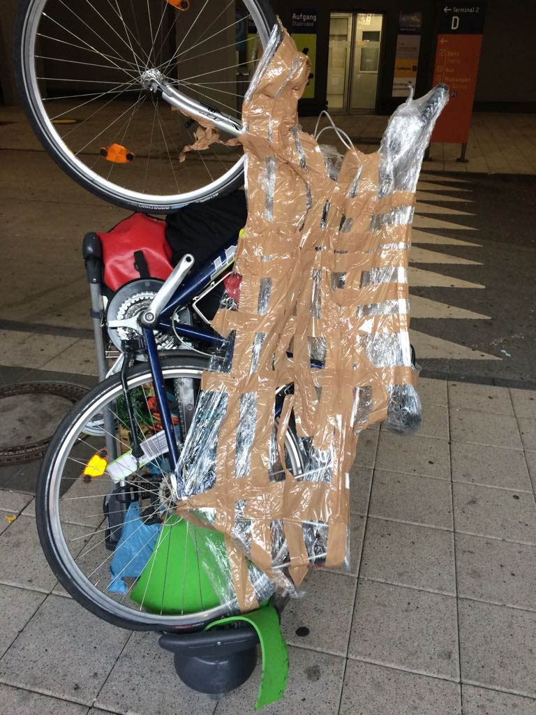 Fahrradverpackung Rückflug