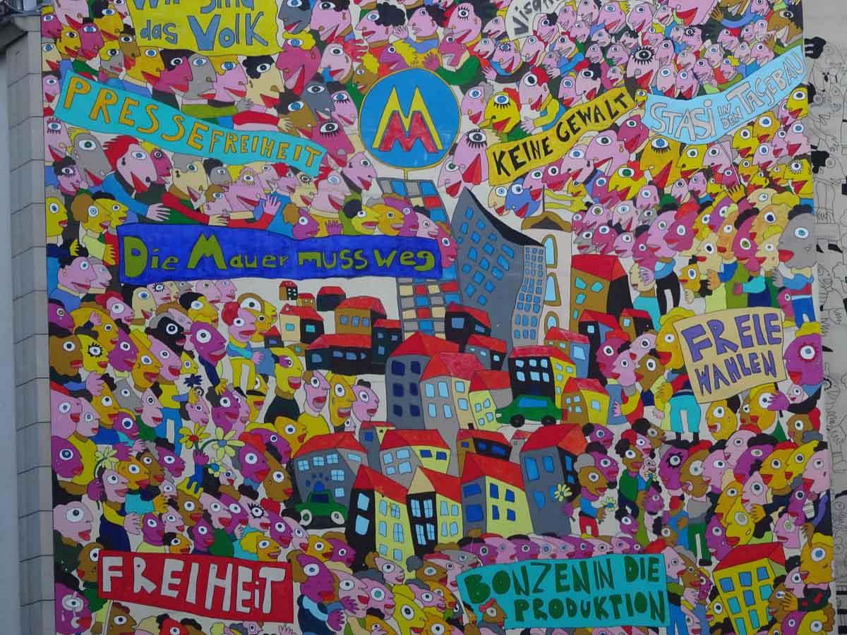 StreetArt zur friedlichen Revolution
