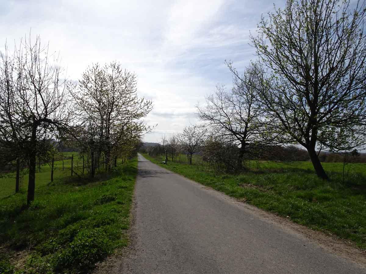 Bauernhofweg Weg über den Golfplatz